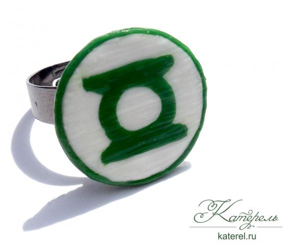 """Кольцо """"Зеленый фонарь"""""""